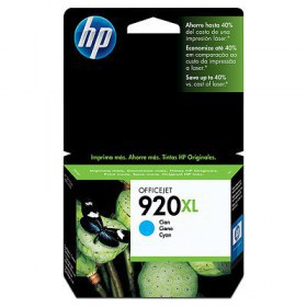 Tinta HP Officejet 920XL Cartucho de Inyección de Tinta Cian (alto volumen)