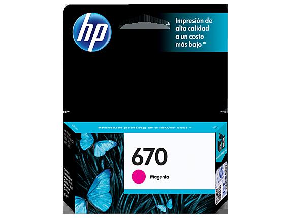Tinta HP 670 Cartucho de Inyección de Tinta Magenta
