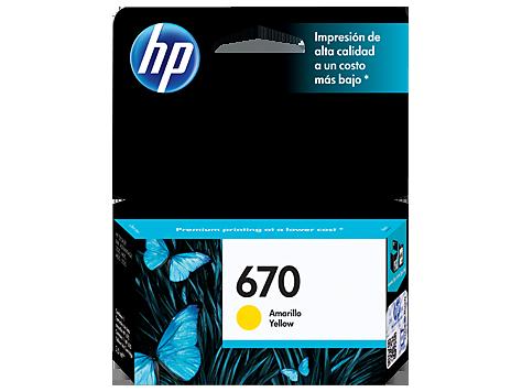 Tinta HP 670 Cartucho de Inyección de Tinta Amarillo