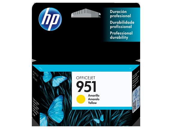 Tinta HP 951 Cartucho de Inyección de Tinta Amarillo