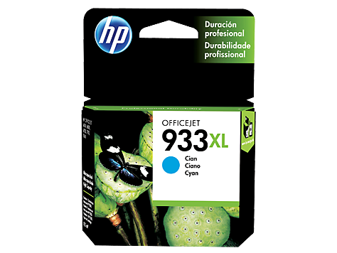 Tinta HP 933XL Cartucho de Inyección de Tinta Cyan
