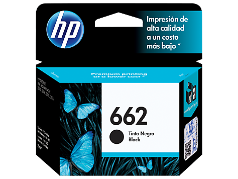 Tinta HP 662 Cartucho de Inyección de Tinta Negra