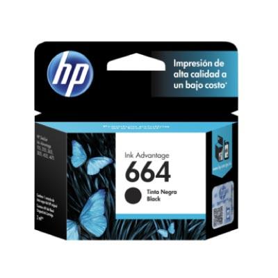 Tinta HP 664 Cartucho de Inyección Negro