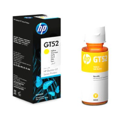 Botella de Tinta Original Yellow HP GT52