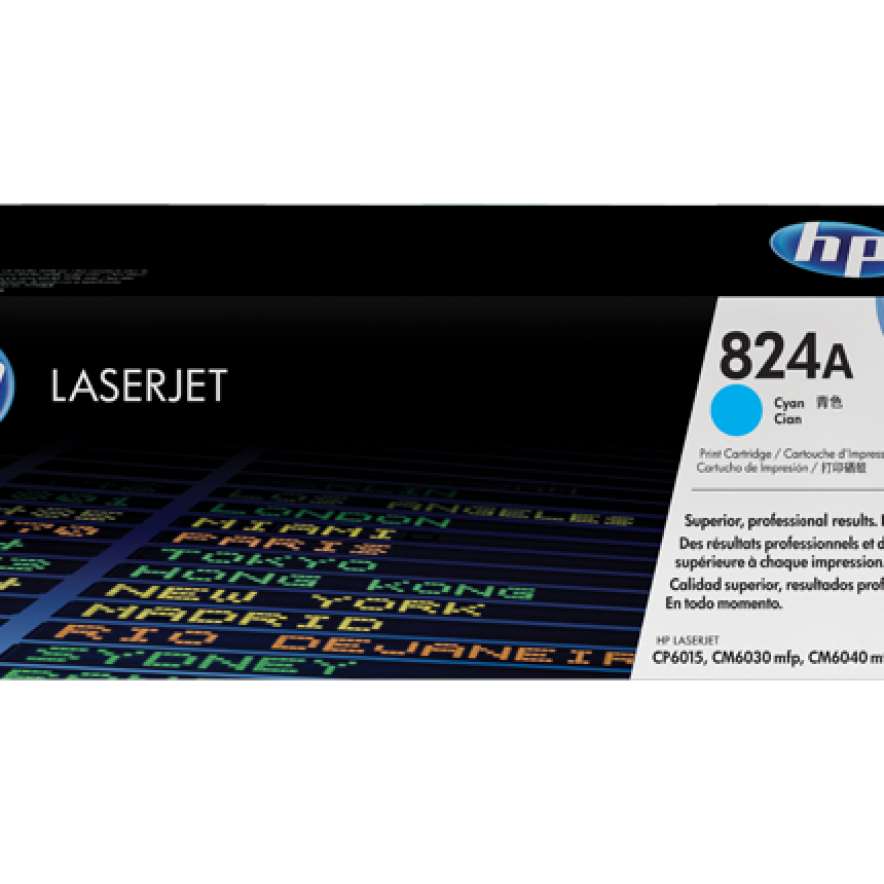 Cartucho de tóner original LaserJet HP 824A cian