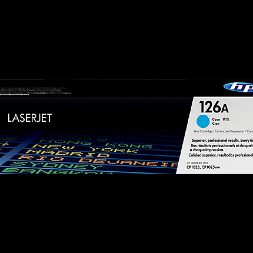 Cartucho original de tóner cian HP 126A LaserJet (CE311A)