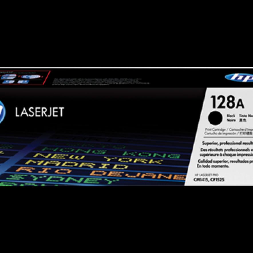 Cartucho original de tóner negro HP 128A LaserJet (CE320A)