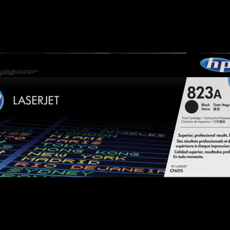 Cartucho original de tóner negro HP 823A LaserJet (CB380A)