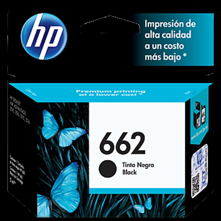Cartucho original de tinta negra HP 662 Advantage