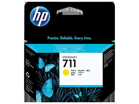 Tinta HP 711 Cartucho de Inyección de Tinta Amarillo