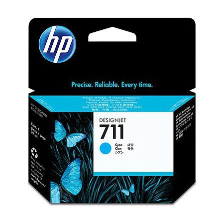 Tinta HP 711 Cartucho de Inyección de Tinta Cyan