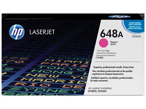 Cartucho original de tóner magenta HP 648A LaserJet (CE263A)