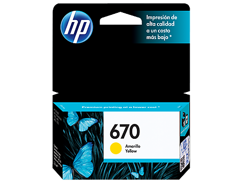 Cartucho original de tinta amarilla HP 670 Advantage