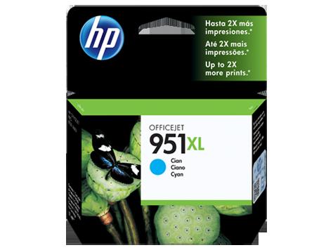 Tinta HP 951 Cartucho de Inyección de Tinta Cyan
